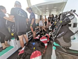 Speed boat for diving in Bali | Alpha world Diving